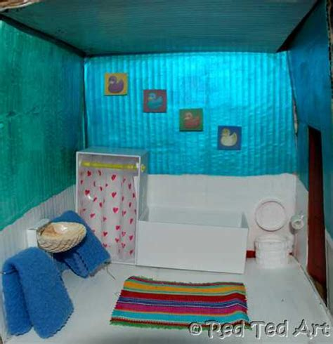 bathroom craft ideas craft post dolls house bathroom ted s