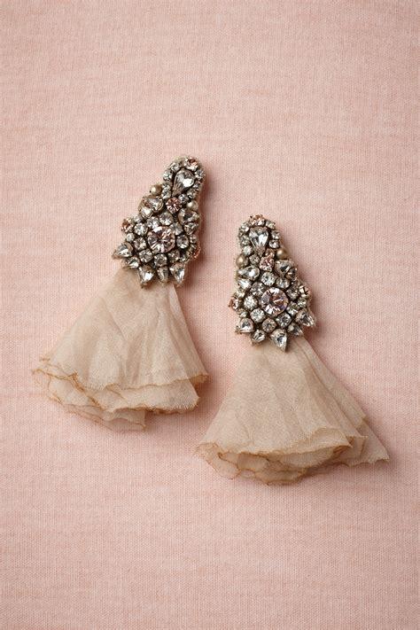 vintage inspired bridal earrings bhldn onewed