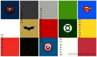 superhero theme speech room style