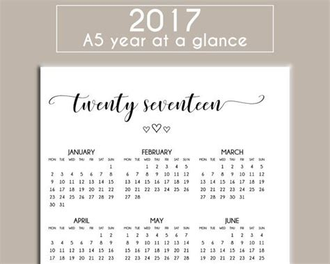 year at a glance calendar for teachers calendar