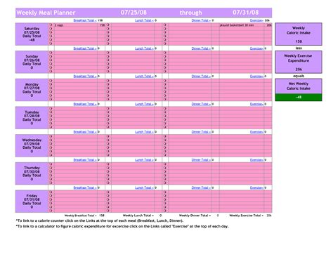 best photos of weekly meal planning worksheet weekly
