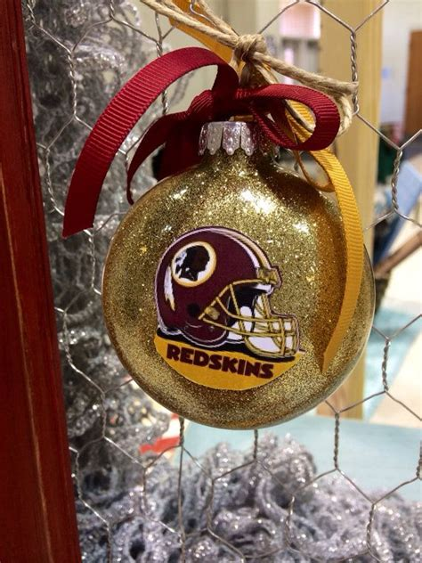 redskins ornaments christmas ornaments by lindsaylettering