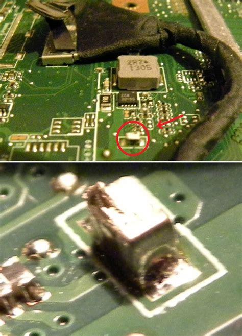 laptop shorted capacitor asus motherboard capacitor replacement 28 images dell sx260 motherboard capacitor repair kit