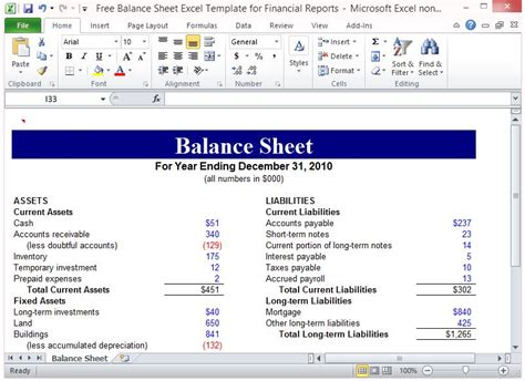 non profit balance sheet template excel financial report template financial report template non