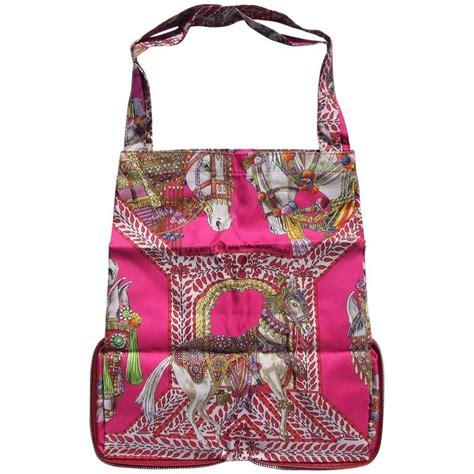 Reusable Shopper Hermes Silky Pop Handbag by Hermes Silky Pop Shopper Handbag Danse Du Cheval Marwari