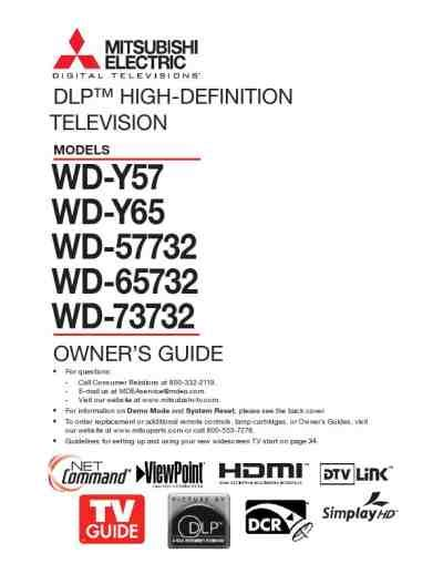 mitsubishi wd 73732 l mitsubishi wd 73732 tv television download manual for