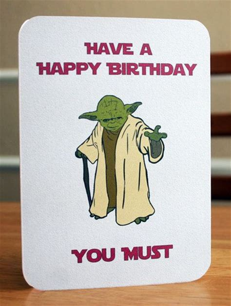 printable birthday cards star wars star wars printable birthday card yoda card by