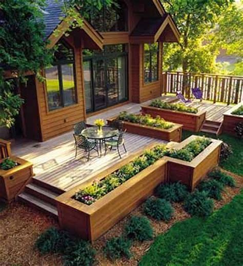 off backyard awesome deck plan w flower boxes would love off of