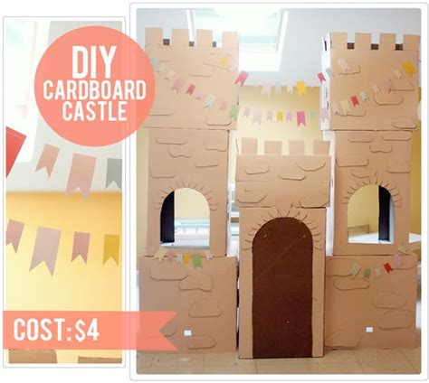 How To Make A Paper Castle Easy - 4 diy cardboard castle