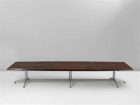 Large Conference Table Large Conference Table In Rosewood With Graphical Top For Sale At 1stdibs