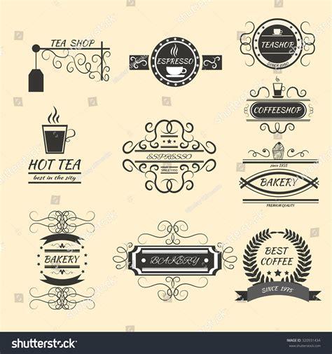 vintage vector design elements retro style typographic coffee retro vintage labels logo design vector typography