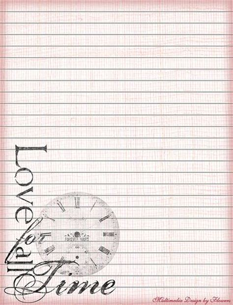 printable stationary pages 5 best images of romantic printable stationery paper