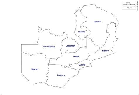 printable map of lusaka blank map of zambia