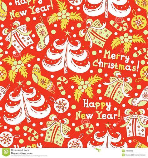 new year background pattern seamless pattern happy new year and christmas stock vector