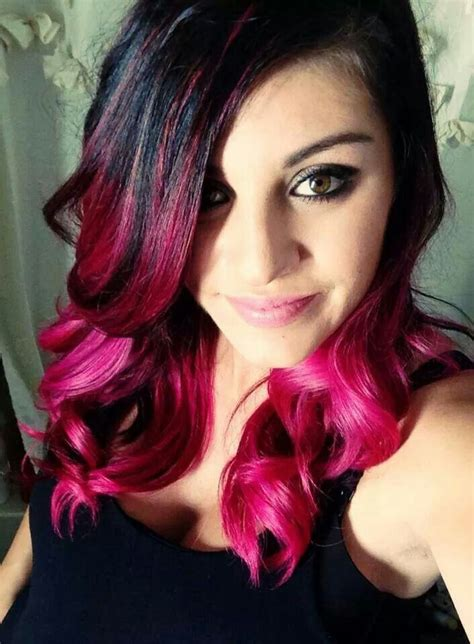 fuchsia hair color fuchsia pink ombre dyed hair colored hair hair pink