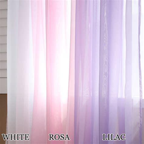 Lilac Sheer Curtains Voile Ruffle Curtain