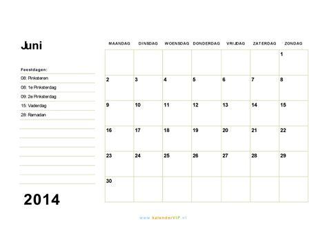 Kalender 2016 Juni Kalender Juni 2014 Met Weeknummers En Feestdagen In Excel Pdf