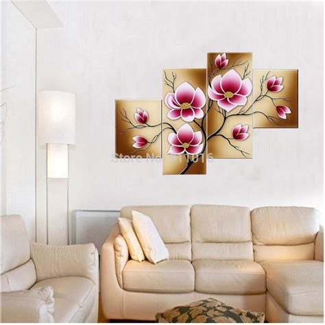 hand painted home decor modern flowers oil painting hand painted wall paintings