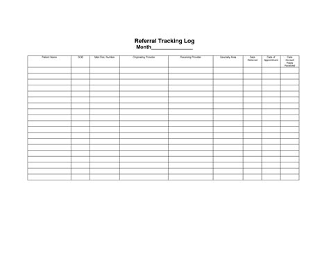 referral tracking template best photos of appointment tracking sheet free printable