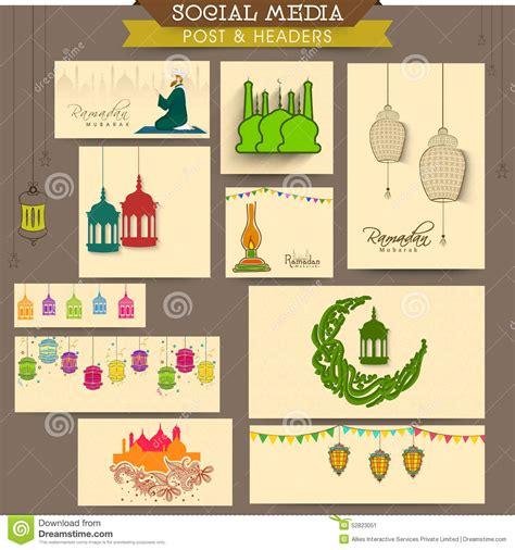 design header social media social media header or banner for ramadan kareem