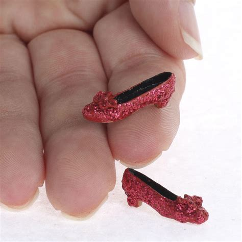 Miniature Ruby Red Slippers Halloween And Fall Miniatures Dollhouse Miniatures