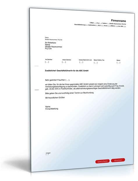 Musterbrief Terminanfrage Bestellung Zus 228 Tzlicher Gesch 228 Ftsf 252 Hrer F 252 R Gesellschaft