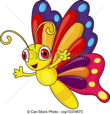 imagenes mariposas en caricatura ilustraciones vectoriales de mariposa divertido