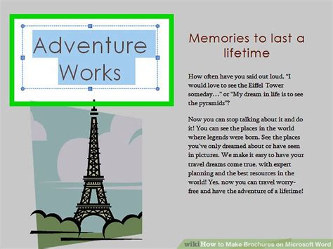 how to make a brochure in microsoft word