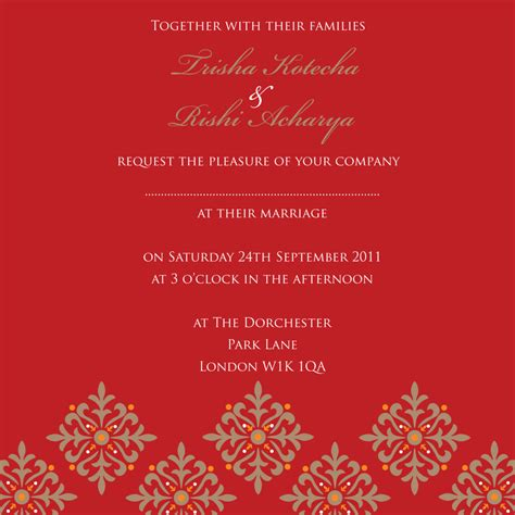 indian wedding invitation card design template