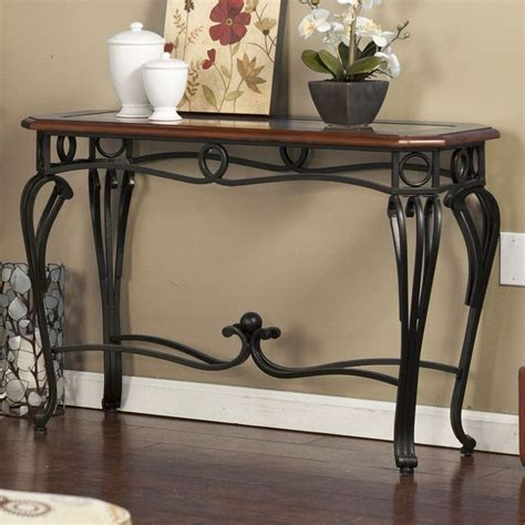 Home Decor Living Room Wood Metal Glass Console Sofa Table Metal Glass Sofa Table