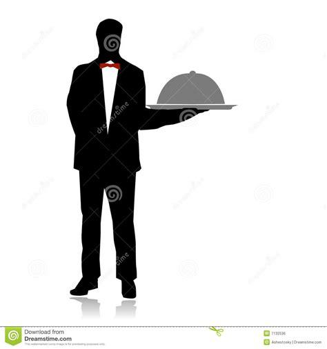 servizio cameriere servizio cameriere sul ristorante illustrazione