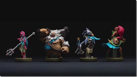 Amiibo Daruk The Legend Of Breath Of The mipha daruk revali and urbosa from breath of the are getting amiibo figures
