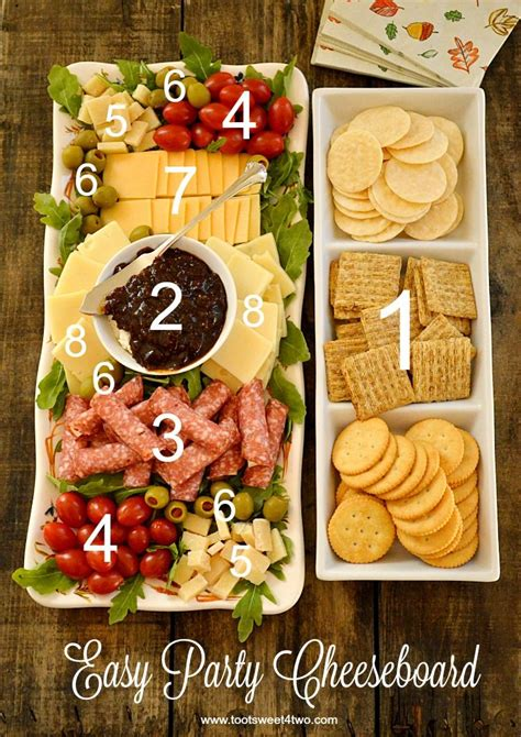 easy party cheeseboard recipe appetizer recipes food appetizers
