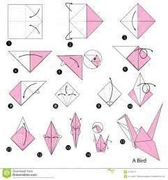 How To Make Origami Step By Step With Pictures - step by step how to make origami a bird