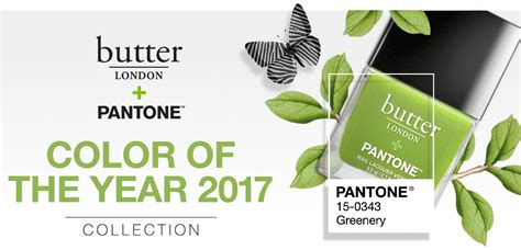 pantone colors of the year 2017 new release butter london pantone 2017 color of the