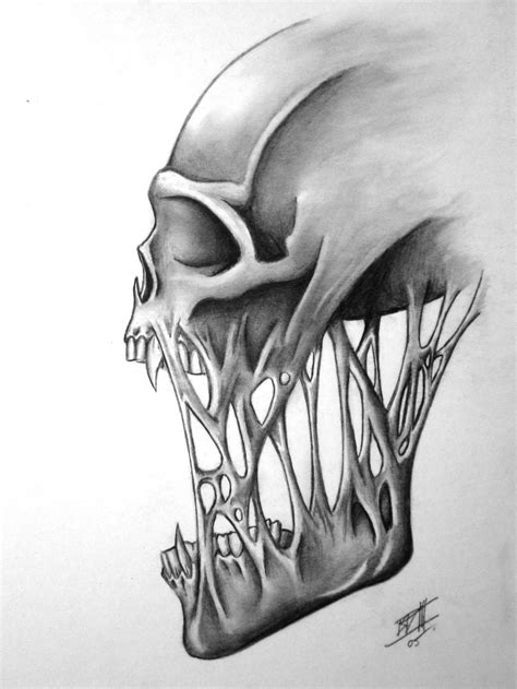 skull no 2 by bd3illustrations on deviantart