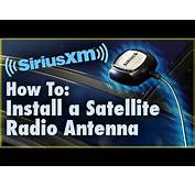 How To Install A Satellite Radio Antenna Car Stereo