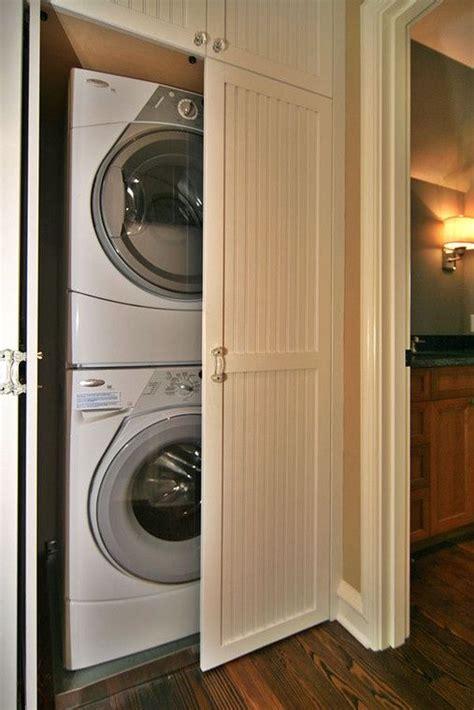 stacked washer dryer closet laundry closet stacking washer dryer mount wash laundry doors