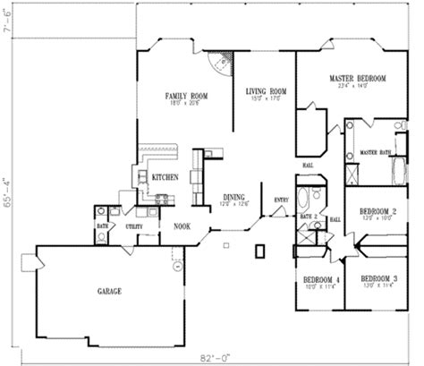 home plans homepw76585 3 677 square feet 4 bedroom 3 ranch style house plan 4 beds 2 50 baths 2773 sq ft plan