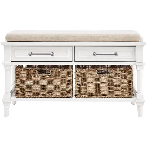 antique white storage bench home decorators collection harwick antique white storage