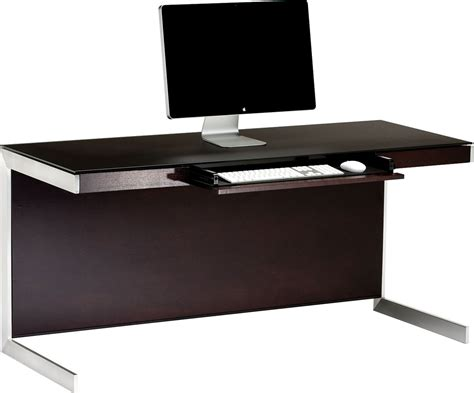 Bdi Sequel 6001 Espresso Computer Desk Laptop On A Desk