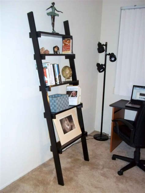 black ladder bookshelf reviews ladder shelf bookcase