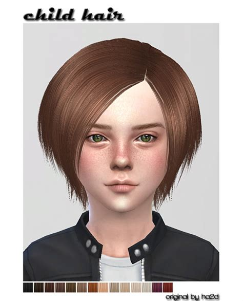 childs hairstyles sims 4 ha2d s hair converted for child at shojoangel 187 sims 4 updates