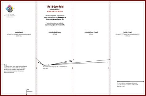 four fold brochure template gate fold brochure template beautiful 4 best images of