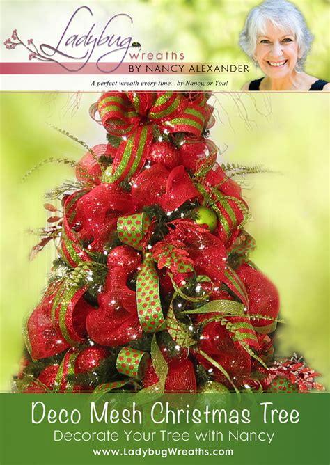 how to deco mesh a tree deco mesh tree ladybug wreaths by nancy