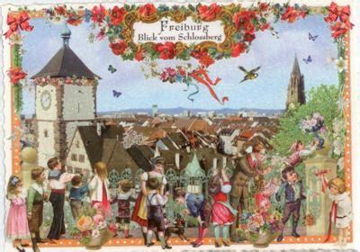 Postkarten Drucken Freiburg by Tausendsch 214 N Freiburg Blick Vom Schlossberg Postkarte