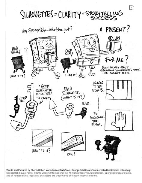 animation layout tips cartoon snap how to draw lively poses spongebob tip sheets