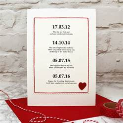 special dates personalised anniversary card by arnott cards gifts notonthehighstreet