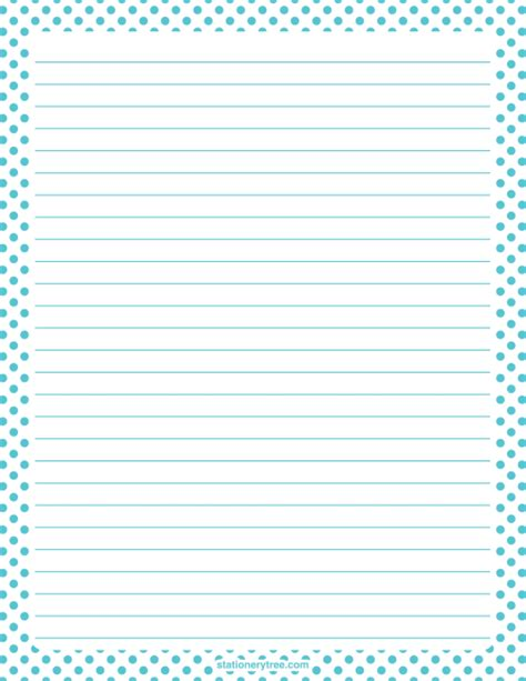 free printable stationery paper without lines printable blue and white polka dot stationery and writing