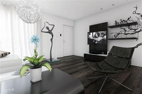 black white living room modern art interior design ideas